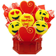 valentines day cookies emoji cookies s day bouquet cookies by design
