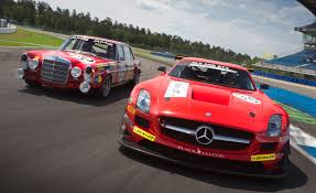 cars mercedes red retro liveried sls amg gt3 honors legendary red sow will compete