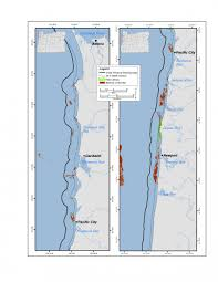 Northern Oregon Coast Map by Rocky Subtidal Oregon Conservation Strategy