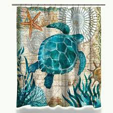 Sea Turtle Bathroom Accessories Aliexpress Com Buy Miracille Sea Turtle Shower Curtain Mat