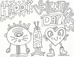 valentines coloring pages doodle art alley