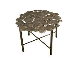 low round metal coffee table nymphea round by hamilton conte paris