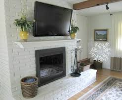 painted brick fireplace makeover paint brick fireplaces brick