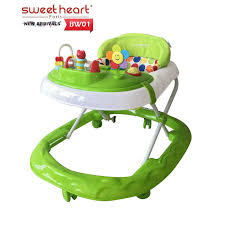 table height baby bouncer sweet heart paris baby walker bw01 green with 3 height adjustment