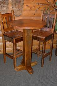 teton barn wood pub table with copper top rustic furniture mall