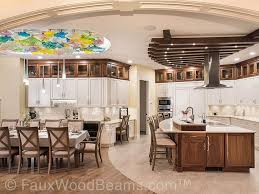 white kitchen cabinets with wood beams 15 faux wood ceiling beam ideas photos home stratosphere