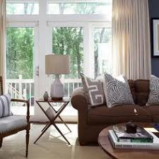 traditional chocolate brown and tan living room living room to