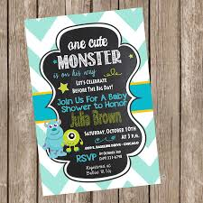 monsters inc baby shower invitation by trishatreedesigns on etsy
