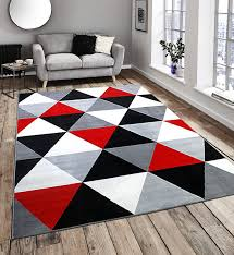 Red White Black Rug Diamond Pattern Black Red White And Grey Extra Large Home Floor