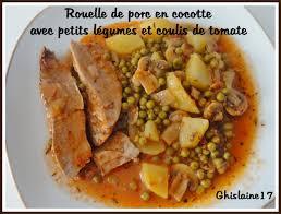 comment cuisiner la rouelle de porc rouelle de porc en cocotte avec petits légumes et coulis de tomate