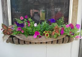 Homemade Garden Box by Chic And Catchy Window Box Idea With Green Plants And Pretty