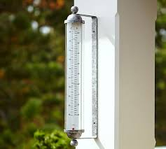 Patio Clocks Outdoor Thermometer Oversized Outdoor Thermometer Pottery Barn