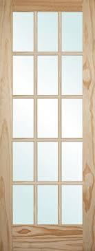 Slab Interior Door Discount 6 8 15 Lite Pine Interior Wood Door Slab
