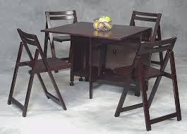 Folding Wood Dining Table Folding Dining Table And Chairs Set Pleasing Design Dark Brown