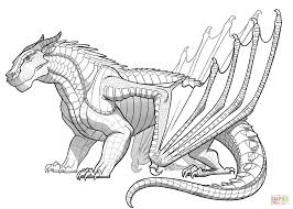 mudwing dragon from wings of fire coloring page free printable