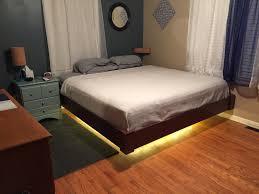 bed lighting style floating bed frames pictures floating platform bed frame