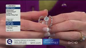 qvc wedding bands epiphany diamonique 3 bridal ring set page 1 qvc