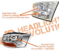 nissan titan headlight bulb 2009 2018 dodge ram reflector single beam led h11 low beam bulbs