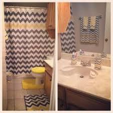 chevron bathroom ideas 15 pc chevron bright yellow gray white bathroom set bath towel