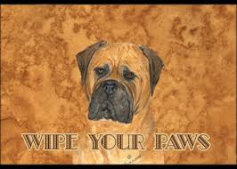 Wipe Your Paws Rubber Backed Bullmastiff Wipe Your Paws Indoor Outdoor Mat 24