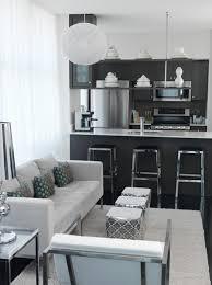 interior design for small living room and kitchen madebygirl design black silver kitchen inspiration