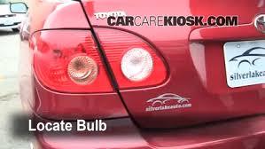 2010 toyota corolla brake light bulb brake light change 2003 2008 toyota corolla 2007 toyota corolla ce