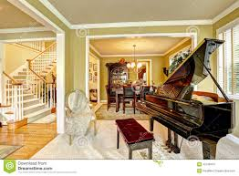 Luxurious Home Interiors Open Modern Luxury Home Interior Living Room With Piano Royalty