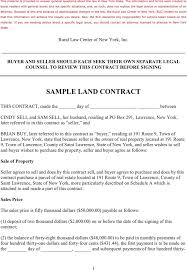 download sample land contract for free tidyform