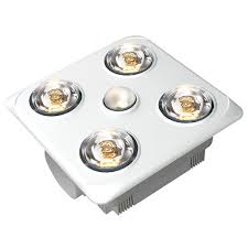 lighting australia brook 4 high airflow bathroom heat lamp and