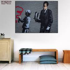 banksy home decor aliexpress com buy dpartisan posters and prints wall art canvas