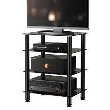 Audio Video Rack Systems Amazon Com Fitueyes 4 Tier Media Component Stand Audio Cabinet