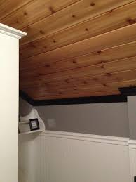 cedar ceiling with crown molding my bathroom remodel pinterest