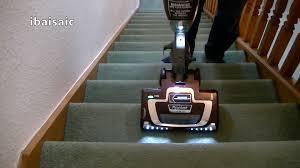 shark rocket ultra light tru pet deluxe vacuum hv322 stair cleaning demonstration with the shark rocket light true pet