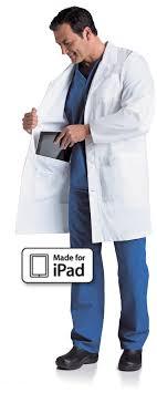 landau men s ipad lab coat 3174 lab coats murse world