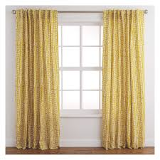 trene pair of mustard yellow patterned curtains 145 x 170cm buy