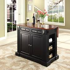 kitchen islands with drop leaf crosley drop leaf breakfast bar top kitchen island walmart com