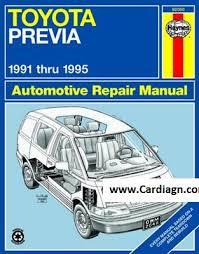 small engine repair manuals free download 1993 alfa romeo spider user handbook toyota previa haynes repair manual for 1991 thru 1995 pdf