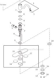 kohler kitchen faucet parts diagram kohler k 168 parts list and diagram ereplacementparts