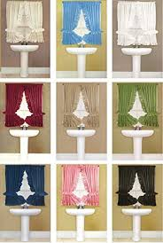 Bathroom Window Curtains Curtains For Bathroom Window Amazon Com