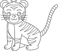 tiger black and white tiger clip black and white free clipart