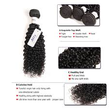 Proper Hair Extensions by Ably Human Hair Extensions Virgin Maylasian Curly Hair 4 Bundles