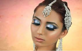 blue smokey eye makeup tutorial indian bridal asian stani arabic contemporary look