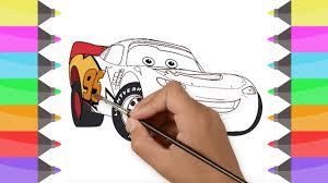 draw cars 3 disney pixar flash mcqueen colouring book kids