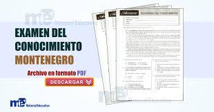 examen montenegro 3 grado primaria examen del conocimiento montenegro sexto grado material educativo
