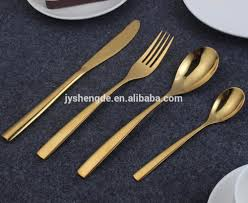 wholesale gold plated cutlery sets online buy best gold plated