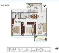 787 Floor Plan by Floor Plan Tata Housing Rivage