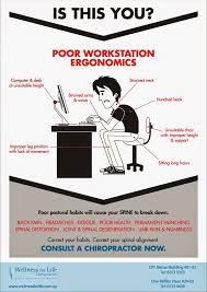 Ergonomic Desk Position Wellness For Life Chiropractic Poor Workstation Ergonomics