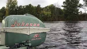 1955 johnson cd 12 5 5hp outboard motor youtube
