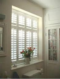Inside Mount Window Treatments - inside mount shutters example in bathroom windowmodern master