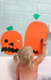 Bath Time Pumpkin Face Decorating